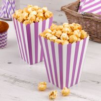 Carnival Purple Popcorn Boxes - Stripes (8)